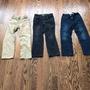 Lot size 5/6 boys pants Levi jeans khaki